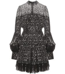Alexander McQueen - Printed Silk Dress - Black