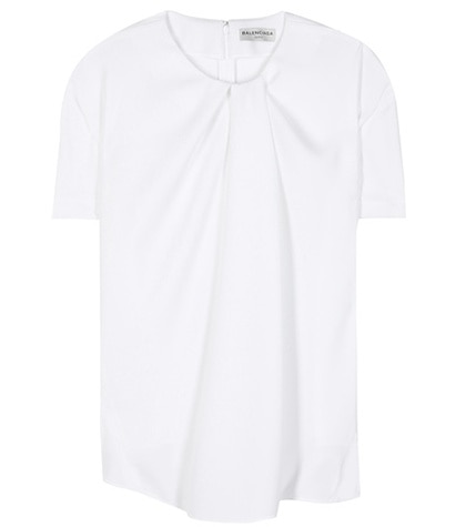 Balenciaga - Crêpe Top - White