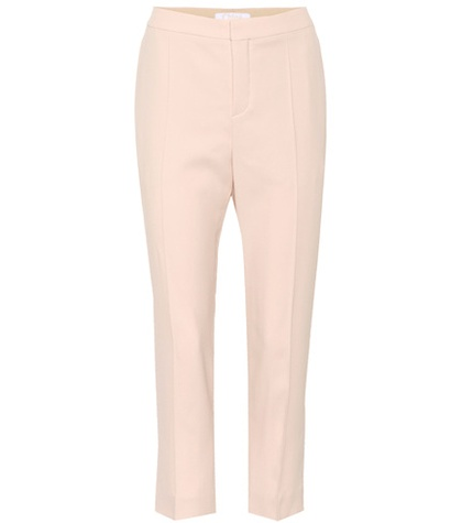 Chloé - Cropped Crêpe Trousers - Pink