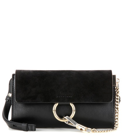 Chloé - Faye Mini Leather Wallet Bag - Black