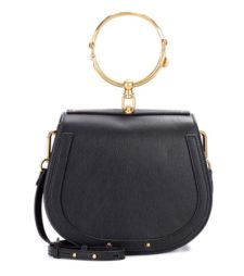 Chloé - Medium Nile Leather Bracelet Crossbody Bag - Black