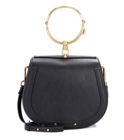 Chloé - Medium Nile Leather Bracelet Crossbody Bag - Black