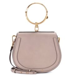 Chloé - Medium Nile Leather Bracelet Crossbody Bag - Gray