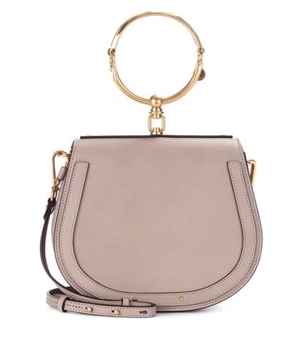 Chloé - Medium Nile Leather Bracelet Crossbody Bag - Gray