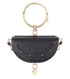 Chloé - Nile Minaudière Leather Crossbody Bag - Black