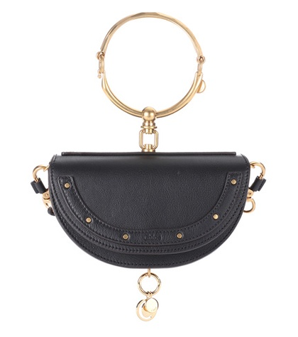Chloé - Nile Minaudière Leather Crossbody Bag - Black