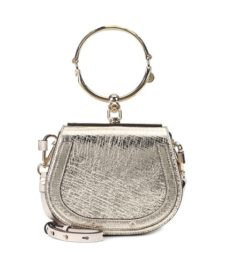 Chloé - Small Nile Leather Bracelet Bag - Gold
