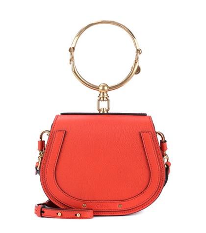 Chloé - Small Nile Leather Bracelet Bag - Red