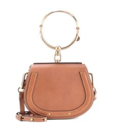 Chloé - Small Nile Leather Bracelet Crossbody Bag - Brown