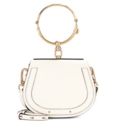 Chloé - Small Nile Leather Bracelet Crossbody Bag - White