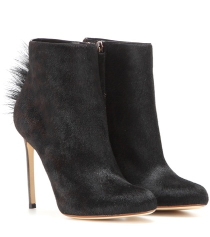 Francesco Russo - Calf Hair Ankle Boots - Black