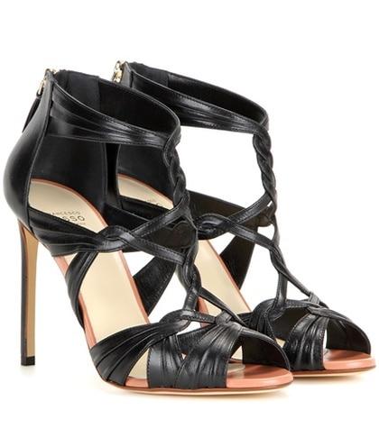 Francesco Russo - Leather Sandals - Black