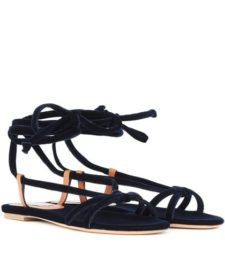 Gabriela Hearst - Reeves Velvet Sandals - Blue