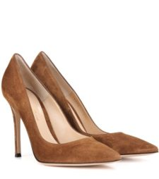 Gianvito Rossi - Gianvito 105 Suede Pumps - Brown