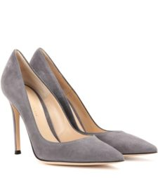 Gianvito Rossi - Gianvito 105 Suede Pumps - Gray