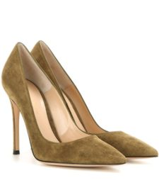 Gianvito Rossi - Gianvito 105 Suede Pumps - Green
