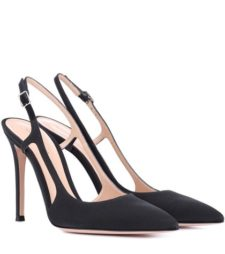 Gianvito Rossi - Grosgrain Slingback Pumps - Black