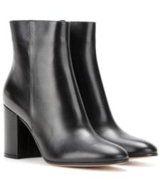 Gianvito Rossi - Leather Ankle Boots - Black