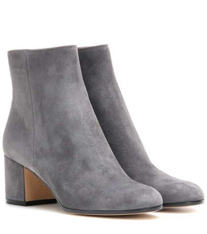Gianvito Rossi - Margaux Mid Suede Ankle Boots - Gray