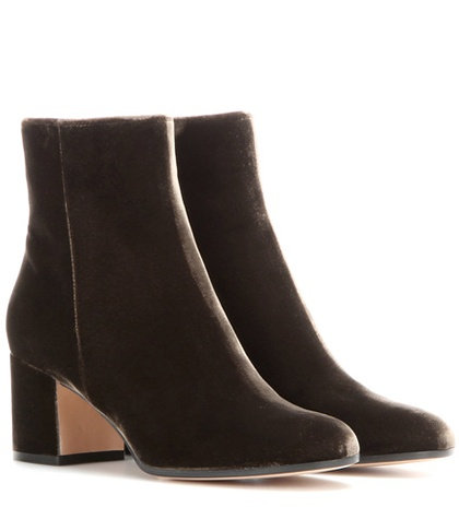 Gianvito Rossi - Margaux Mid Velvet Ankle Boots - Green