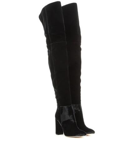 Gianvito Rossi - Over-The-Knee Velvet Boots - Black
