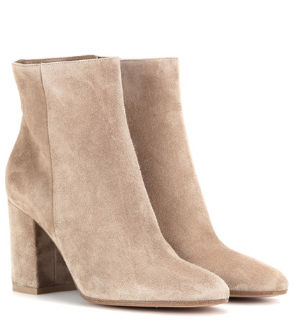 Gianvito Rossi - Rolling 85 Suede Ankle Boots - Neutrals