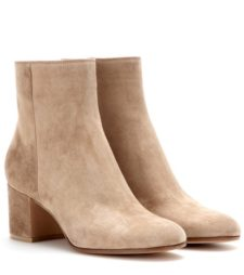 Gianvito Rossi - Suede Ankle Boots - Neutrals