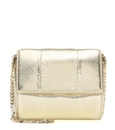Givenchy - Pandora Box Micro Metallic Snakeskin Shoulder Bag - Gold