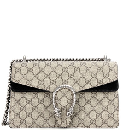 Gucci - Dionysus Gg Supreme Small Coated Canvas And Suede Shoulder Bag