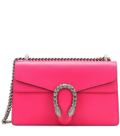 Gucci - Dionysus Small Leather Shoulder Bag - Pink