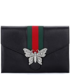 Gucci - Guccitotem Leather Clutch - Black