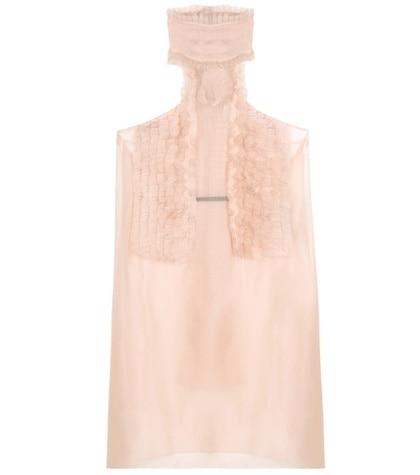 Haider Ackermann - Ruffled Silk Top - Pink
