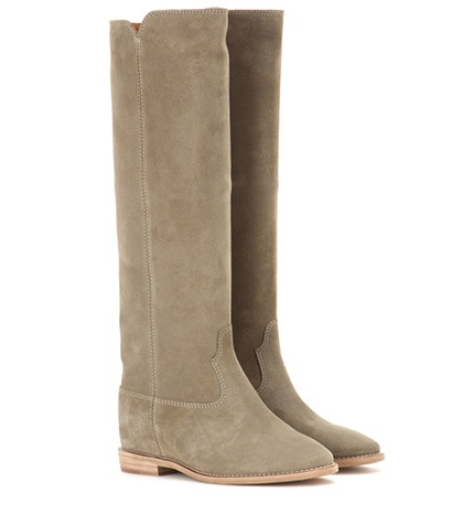 Isabel Marant - Étoile Cleave Concealed Wedge Suede Boots - Neutrals