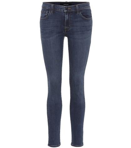 J Brand - 811 Mid-Rise Skinny Jeans - Blue