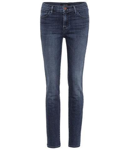 J Brand - Maude Mid-Rise Cigarette Jeans - Blue