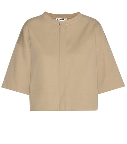 Jil Sander - Allen Cotton Cropped Jacket - Neutrals