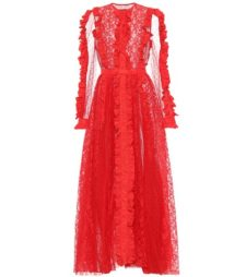 MSGM - Lace Gown - Red