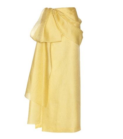 Rosie Assoulin - Hustle & Bustle Jacquard Silk And Cotton-Blend Maxi Skirt - Yellow