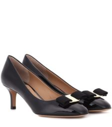 Salvatore Ferragamo - Erice 55 Patent Leather Pumps - Black