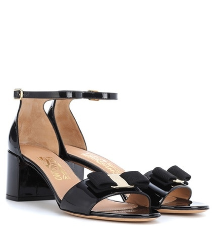 Salvatore Ferragamo - Gavina Patent Leather Sandals - Black