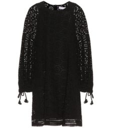 See by Chloé - Cotton Lace Minidress - Black