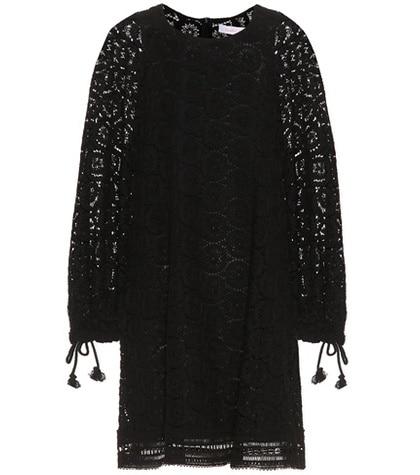 See by Chloé - Cotton Lace Minidress - Black
