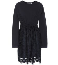 See by Chloé - Cotton Lace Minidress - Blue