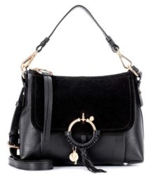 See by Chloé - Joan Small Leather And Suede Crossbody Bag - Black