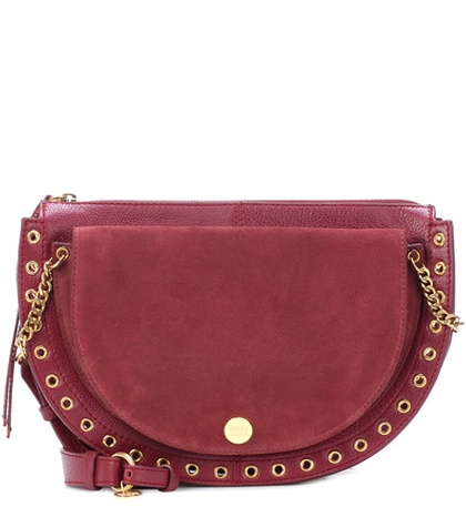 See by Chloé - Kris Medium Suede Shoulder Bag - Red