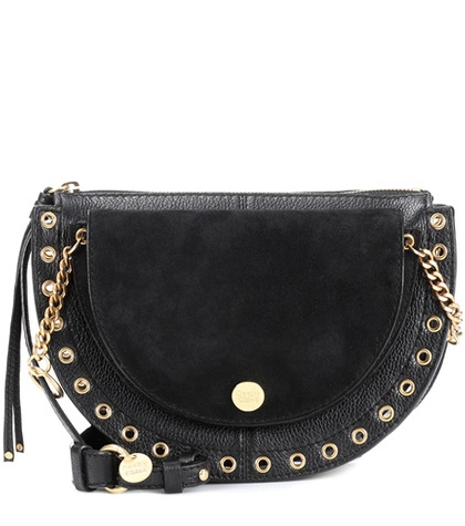 See by Chloé - Kriss Medium Leather Crossbody Bag - Black