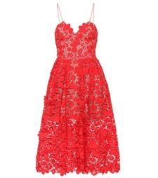 Self-Portrait - Azaelea Lace Midi Dress - Red