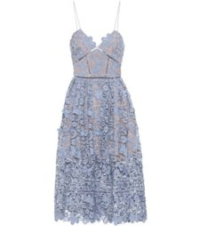 Self-Portrait - Floral Azaela Dress - Blue
