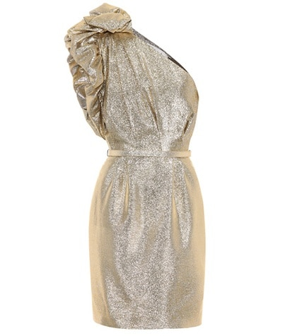 Stella McCartney - One-Shoulder Dress - Metallic