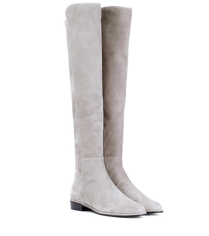 Stuart Weitzman - Allgood Skimmer Over-The-Knee Boots - Gray